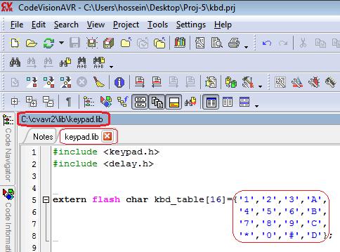 کلیدخوانی با codevision