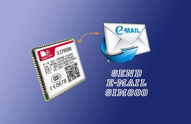 ارسال email با sim800