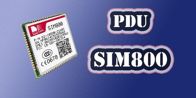 ارسال و دریافت sms در مد pdu
