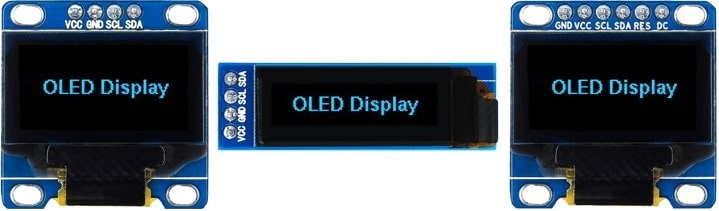 نمایشگر OLED با درایور SSD1306