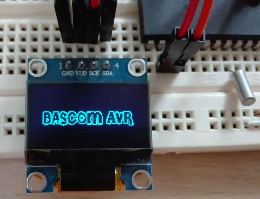 راه اندازی نمایشگر Oled SSD1306 با بسکام