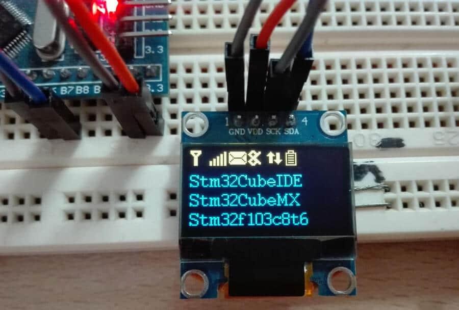 راه اندازی نمایشگر SSD1306 با STM32