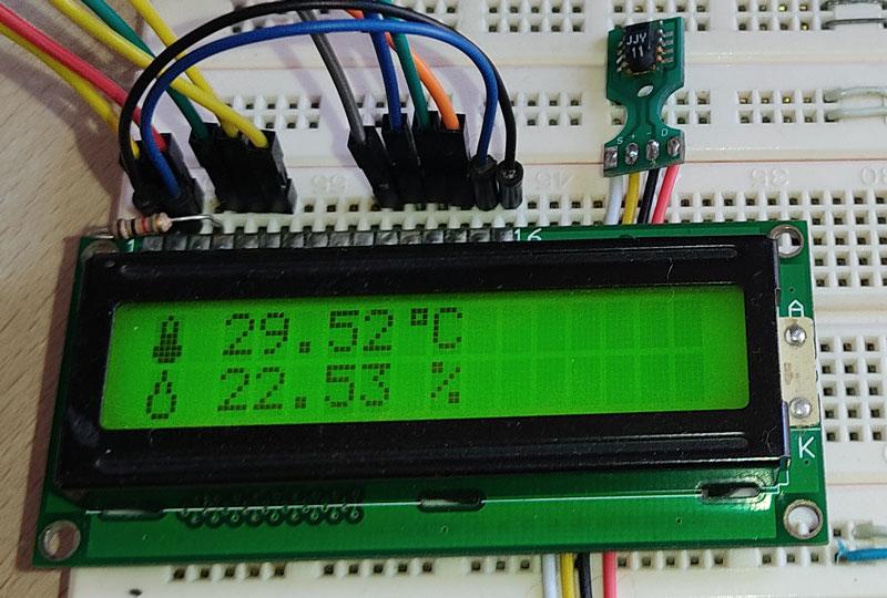 راه اندازی سنسور رطوبت و دما sht11