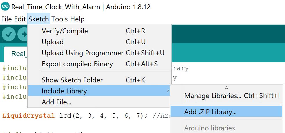 آموزش نصب کتابخانه آردوینو با فایل zip