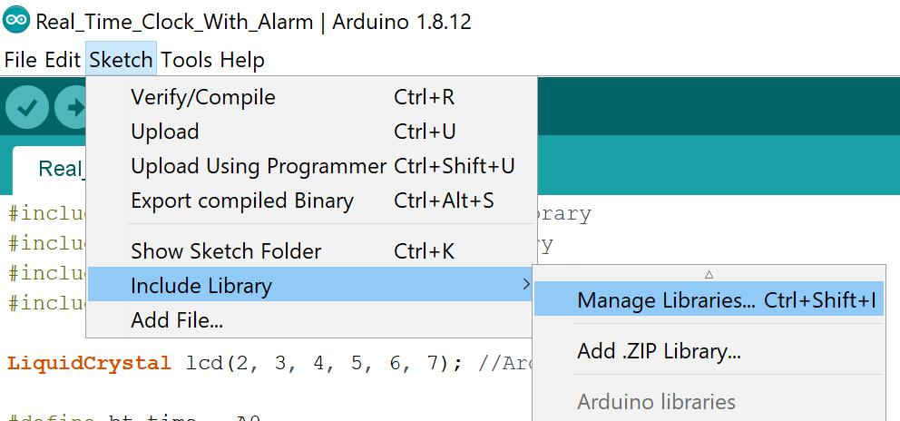 اضافه کردن کتابخانه آردوینو از طریق Library Manager