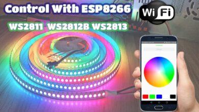 راه اندازی ws2812b توسط esp8266