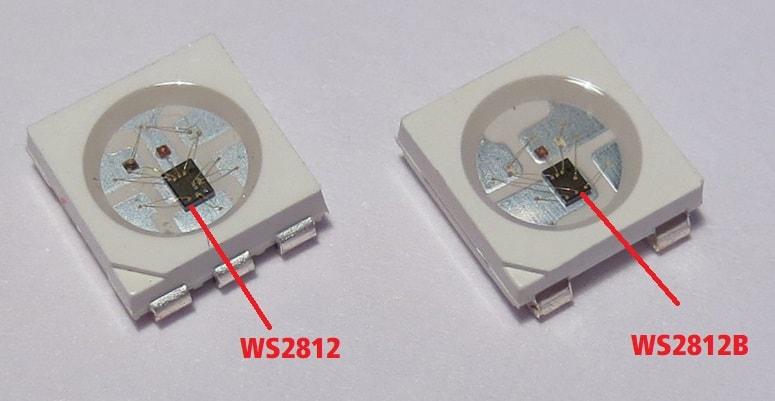 راه اندازی ws2812b